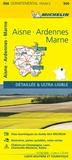 Michelin - Aisne, Ardennes, Marne - 1/150 000.