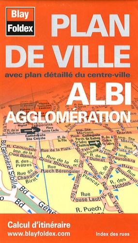 Blay-Foldex - Albi agglomération - Plan de ville.
