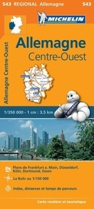 Michelin - Allemagne centre ouest - 1/350 000.