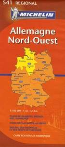 Michelin - Allemagne Nord-Ouest 1/350 000.