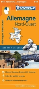 Michelin - Allemagne Nord-Ouest - 1/350 000.