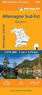 Michelin - Allemagne sud est, Bavière - 1/375 000.