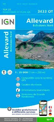 IGN - Allevard, Belledonne Nord - 1/25 000.