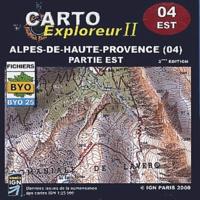 IGN - Alpes de Haute-Provence, Partie Est - CD-ROM.