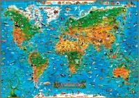 Animaux du monde pour les enfants - Carte murale laminée sans barres alu.pdf