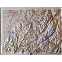 IGN - Annecy / Mont-Blanc - Carte en relief 1/100 000.