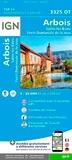 IGN - Arbois, Salins-les-Bains, Forêt Domaniale de la Joux - 1/25 000.