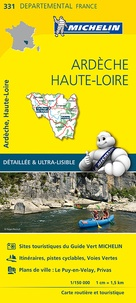 Michelin - Ardèche, Haute-Loire - 1/150 000.