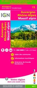 IGN - Auvergne-Rhône-Alpes, Massif Alpin - 1/250 000, recto-verso.