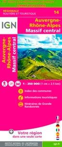 IGN - Auvergne-Rhône-Alpes, Massif-Central - 1/250 000.