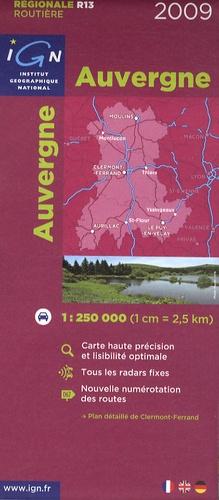 IGN - Auvergne - 1/250 000.