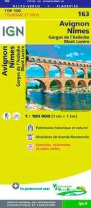 IGN - Avignon, Nîmes, Gorges de l'Ardèche, Mont Lozère - 1/100 000.