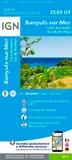 IGN - Banyuls-sur-Mer, Côte Vermeille, Col du Perthus - 1/25 000.