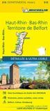 Michelin - Bas-Rhin, Haut-Rhin, Territoire de Belfort - 1/150 000.