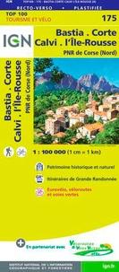 IGN - Bastia, Corte, Calvi, l'Ile-Rousse, PNR de Corse - 1/100 000.
