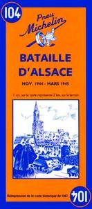 Anonyme - Bataille d'Alsace. - Carte historique.