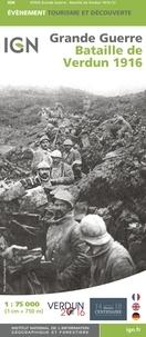 IGN - Bataille de Verdun 1916 - 1/75 000.