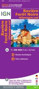 IGN - Bavière, Forêt Noire, Allemagne Sud - 1/400 000.