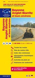 IGN - Bayonne Anglet Biarritz et leurs environs - 1/80 000.