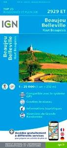 IGN - Beaujeu, Belleville, Haut Beaujolais - 1/25 000.