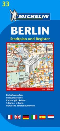 Michelin - Berlin - Stadtplan und Register 1/22000.