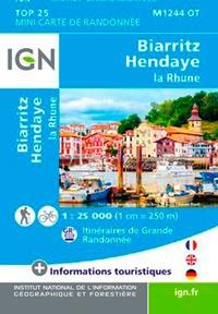 IGN - Biarritz, Hendaye, La Rhune - 1/25 000.