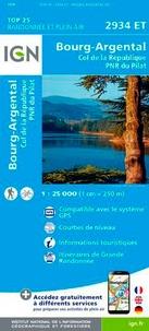 IGN - Bourg-Argental Col de la République PNR du Pilat - 1/25 000.