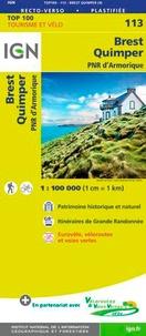 IGN - Brest, Quimper, PNR d'Armorique - 1/100 000.