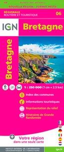 IGN - Bretagne - 1/250 000.