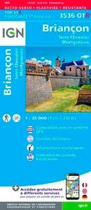 IGN - Briançon - Serre Chevalier, Montgenèvre : 1/25 000 Plastifiée-résistante.