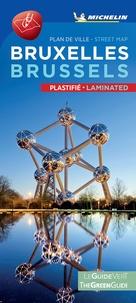 Michelin - Bruxelles - Plan de ville plastifié.