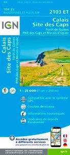 IGN - Calais, Site des Caps, Forêt de Guînes, PNR des Caps et Marais d'Opale - 1/25 000.