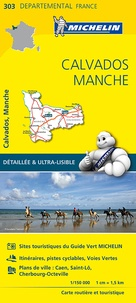 Michelin - Calvados, Manche - 1/150 000.