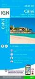 IGN - Calvi, Cirque de Bonifatu, Parc naturel de Corse - 1/25 000.