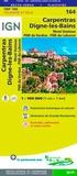 IGN - Carpentras, Digne-les-Bains, Mont Ventoux - 1/100 000.