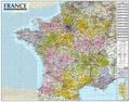 Express Map - Carte de France administrative et routière - 1/1 000 050.