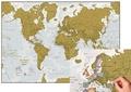 Craenen - Carte du monde à gratter - Pack de 4 exemplaires.