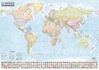 Carte du monde : Politique et physique - Carte murale, double face, laminée sans barres, dimension : 138x98 cm.pdf