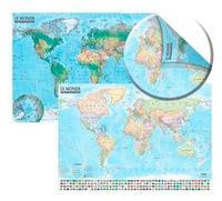 Express Map - Carte du Monde : politique et physique - 1/21 500 000. Carte murale, double face, laminée sans barres.