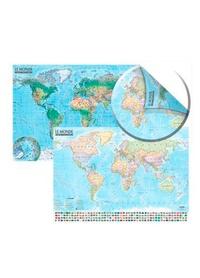 Express Map - Carte du Monde : politique et physique.