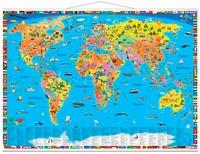 Craenen - Carte du monde politique pour enfants.