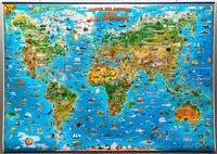 Zlatko Drusko - Carte du Monde pour enfants avec listes métalliques.