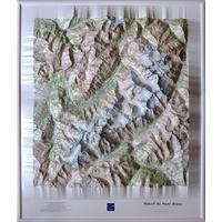 IGN - Carte en relief Massif du Mont-Blanc - Carte en relief 1/50 000.