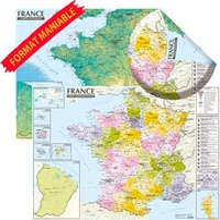 Express Map - Carte physique et administrative France.