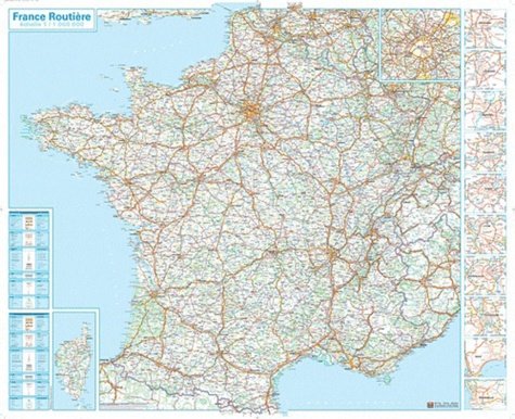 Carte Routiere De France 2019.Carte Routiere France Plastifiee 121 X 98 Cm 1 1 000 000
