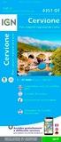 IGN - Cervione, Parc naturel régional de Corse - 1/25 000.