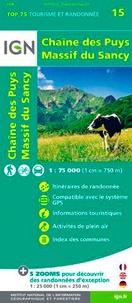 IGN - Chaine des Puys Massif du Sancy - 1/75 000.