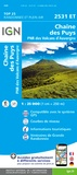 IGN - Chaîne des Puys PNR des Volcans d'Auvergne - 1/25 000.