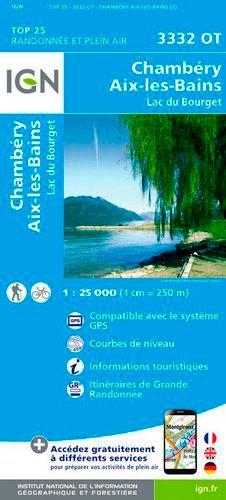 Chambéry Aix-les-Bains Lac du Bourget. 1/25 000