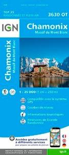 IGN - Chamonix-Mont-Blanc, Massif du Mont Blanc - 1/25 000.